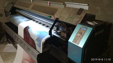 Б/У интерьерный принтер universal 161 LA c 1 dx5 головкой